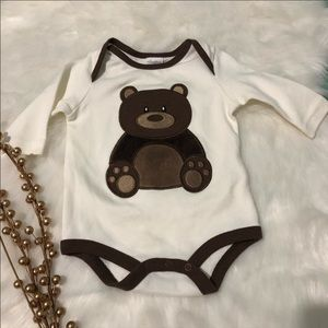 Teddy Bear Long Sleeve Onesie / Starting Out / 3mo